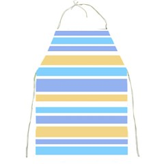 Blue Yellow Stripes Full Print Aprons by BrightVibesDesign