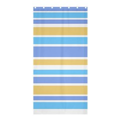 Blue Yellow Stripes Shower Curtain 36  X 72  (stall)  by BrightVibesDesign