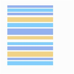 Blue Yellow Stripes Large Garden Flag (two Sides) by BrightVibesDesign