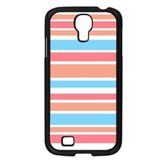 Orange Blue Stripes Samsung Galaxy S4 I9500/ I9505 Case (black) by BrightVibesDesign
