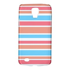 Orange Blue Stripes Galaxy S4 Active by BrightVibesDesign