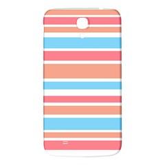 Orange Blue Stripes Samsung Galaxy Mega I9200 Hardshell Back Case by BrightVibesDesign