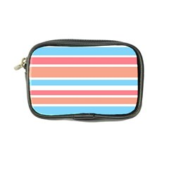 Orange Blue Stripes Coin Purse by BrightVibesDesign