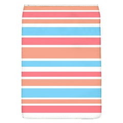 Orange Blue Stripes Flap Covers (l)  by BrightVibesDesign