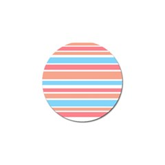 Orange Blue Stripes Golf Ball Marker (4 pack) by BrightVibesDesign