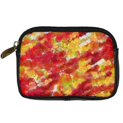 Colorful Splatters                                      	Digital Camera Leather Case by LalyLauraFLM