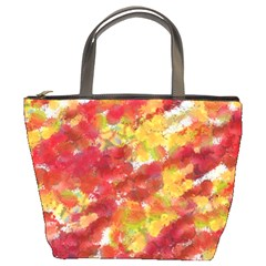 Colorful Splatters                                      bucket Bag by LalyLauraFLM