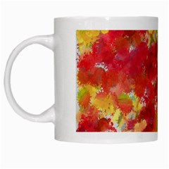 Colorful Splatters                                      White Mug by LalyLauraFLM