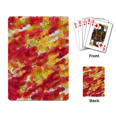 Colorful Splatters                                      playing Cards Single Design by LalyLauraFLM