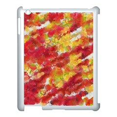 Colorful Splatters                                      apple Ipad 3/4 Case (white) by LalyLauraFLM