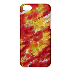 Colorful Splatters                                      			apple Iphone 5c Hardshell Case by LalyLauraFLM