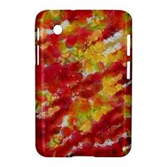 Colorful Splatters                                      samsung Galaxy Tab 2 (7 ) P3100 Hardshell Case by LalyLauraFLM