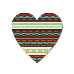 Stripes And Rhombus Chains                                      			magnet (heart) by LalyLauraFLM