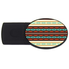 Stripes And Rhombus Chains                                      usb Flash Drive Oval (4 Gb) by LalyLauraFLM
