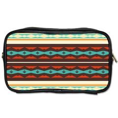 Stripes And Rhombus Chains                                      toiletries Bag (one Side)