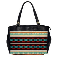 Stripes And Rhombus Chains                                      			oversize Office Handbag by LalyLauraFLM