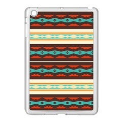 Stripes And Rhombus Chains                                      			apple Ipad Mini Case (white) by LalyLauraFLM