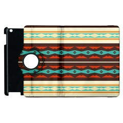 Stripes And Rhombus Chains                                      apple Ipad 2 Flip 360 Case by LalyLauraFLM
