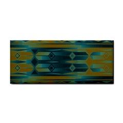 Blue Green Gradient Shapes                                       			hand Towel by LalyLauraFLM