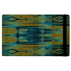 Blue Green Gradient Shapes                                       			apple Ipad 2 Flip Case by LalyLauraFLM