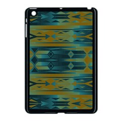 Blue Green Gradient Shapes                                       			apple Ipad Mini Case (black) by LalyLauraFLM