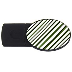 Diagonal Stripes Usb Flash Drive Oval (2 Gb)  by dflcprints