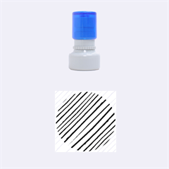 Diagonal Stripes Rubber Round Stamps (small) by dflcprints