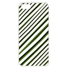 Diagonal Stripes Apple Iphone 5 Seamless Case (white) by dflcprints