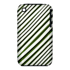 Diagonal Stripes Apple Iphone 3g/3gs Hardshell Case (pc+silicone) by dflcprints