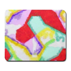 Watercolors Shapes                                         			large Mousepad by LalyLauraFLM