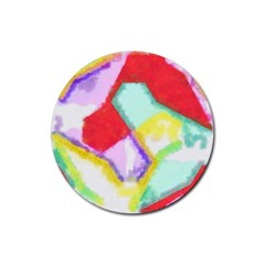 Watercolors Shapes                                         			rubber Coaster (round) by LalyLauraFLM