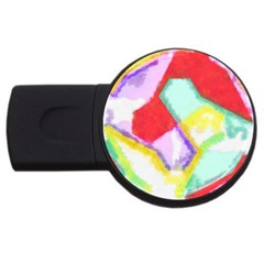Watercolors Shapes                                         usb Flash Drive Round (4 Gb) by LalyLauraFLM