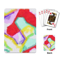 Watercolors Shapes                                         			playing Cards Single Design by LalyLauraFLM