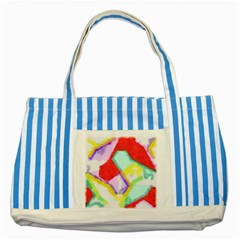 Watercolors Shapes                                         striped Blue Tote Bag by LalyLauraFLM