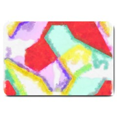 Watercolors Shapes                                         			large Doormat by LalyLauraFLM