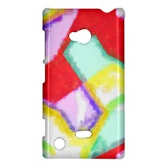 Watercolors Shapes                                         			nokia Lumia 720 Hardshell Case by LalyLauraFLM