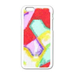 Watercolors Shapes                                         apple Iphone 6/6s White Enamel Case by LalyLauraFLM