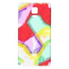 Watercolors Shapes                                         			samsung Note 4 Hardshell Back Case by LalyLauraFLM