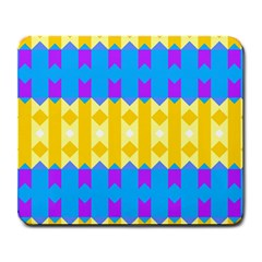 Rhombus And Other Shapes Pattern                                          large Mousepad by LalyLauraFLM
