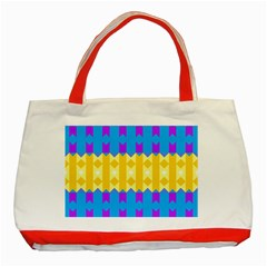 Rhombus And Other Shapes Pattern                                          			classic Tote Bag (red) by LalyLauraFLM