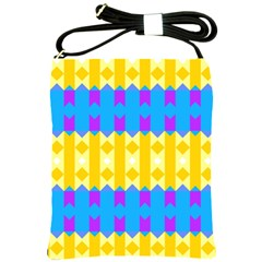 Rhombus And Other Shapes Pattern                                          shoulder Sling Bag by LalyLauraFLM