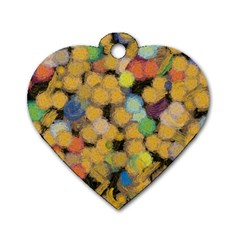 Paint Brushes                                          dog Tag Heart (one Side) by LalyLauraFLM