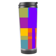 Misc Colorful Shapes                                           Travel Tumbler by LalyLauraFLM