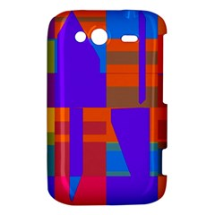 Misc colorful shapes                                           			HTC Wildfire S A510e Hardshell Case by LalyLauraFLM