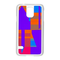 Misc Colorful Shapes                                           			samsung Galaxy S5 Case (white) by LalyLauraFLM