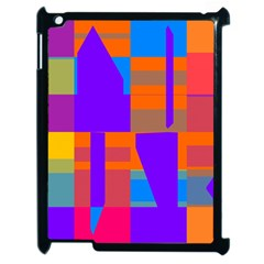 Misc Colorful Shapes                                           apple Ipad 2 Case (black) by LalyLauraFLM
