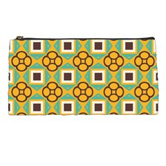 Flowers And Squares Pattern                                            pencil Case
