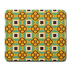 Flowers And Squares Pattern                                            large Mousepad by LalyLauraFLM