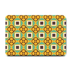 Flowers And Squares Pattern                                            			small Doormat by LalyLauraFLM