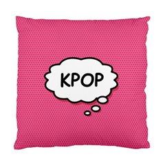 Comic Book Think Kpop Pink Standard Cushion Case (two Sides) by ComicBookPOP